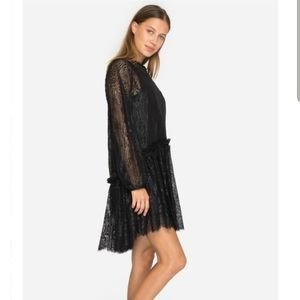 Love Johnny Was Rai Lace Black Dress